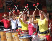Sambafestival Coburg 2014, Samba Sole Luna, Schlossplatz